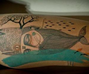 tattoo, bizarre, and tree image