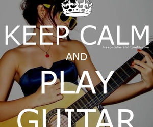 guitar, keep calm, and play image
