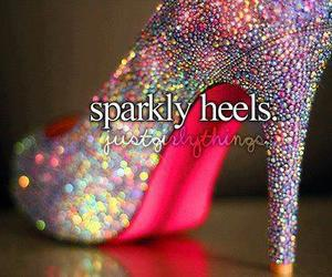 heels, sparkly, and shoes image