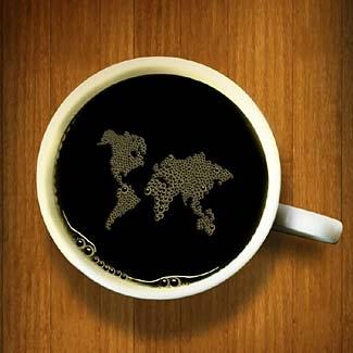 coffee and world image