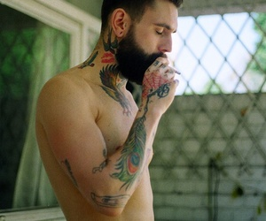 beard, body, and gorgeous image