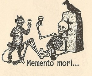 memento mori, skeleton, and death image