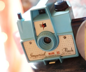 camera, cute, and blue image