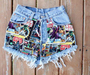 shorts, star wars, and summer image