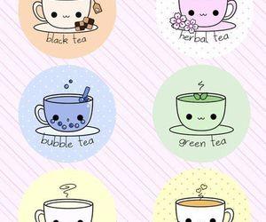 tea and kawaii image