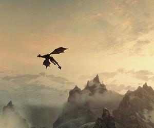 dragon and mountains image