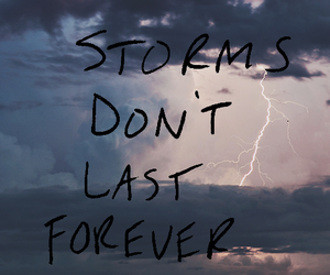 quote, text, and storm image