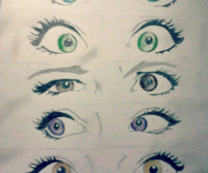 colorful, drawing, and eyes image