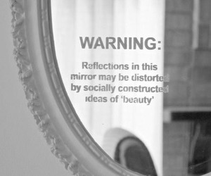 mirror, beauty, and warning image