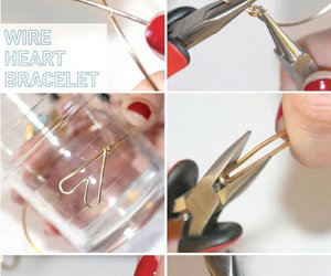 diy, bracelet, and heart image