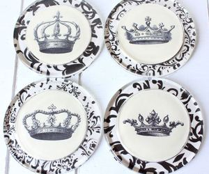 black and white, classy, and crown image