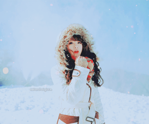 girl, snow, and asian image