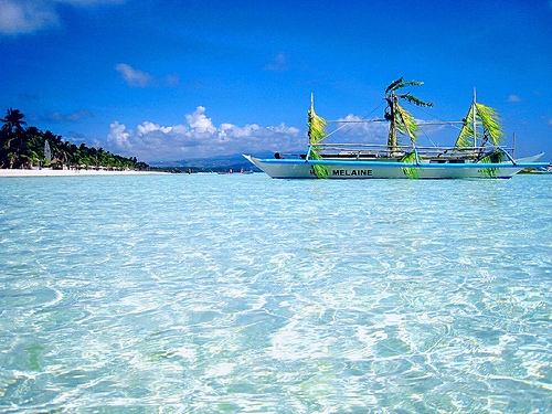 beach and Philippines image