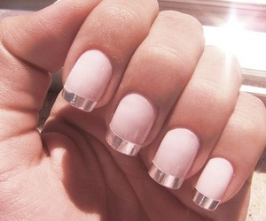 nails, pink, and silver image