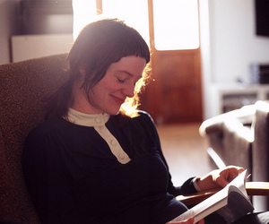 book, girl, and hanne image