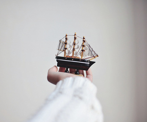 vintage, hand, and boat image