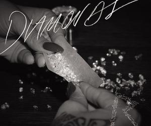 diamond, rihanna, and nails image