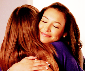 glee, hug, and rachel berry image