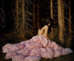 pink, dress, and maria mena image