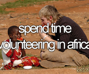 africa, before i die, and volunteering image