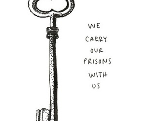 quote, key, and prison image