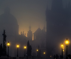 light, prague, and night image