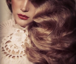 50's, blonde, and curls image