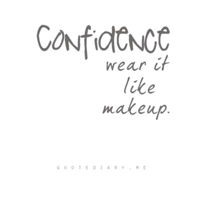 confidence, makeup, and quote image