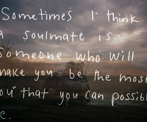 quote, soulmate, and text image
