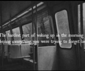 quote, sad, and forget image