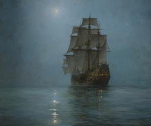 fog, sails, and sea image