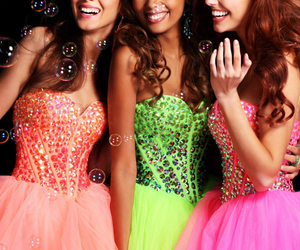 dress, Prom, and coral image