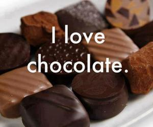 chocolate, love, and food image