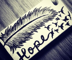 bird, feather, and hope image