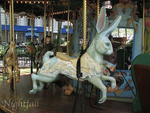 bryant park, bunny, and carousel image