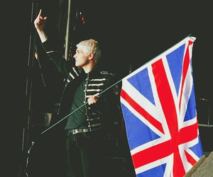 gerard way, my chemical romance, and flag image