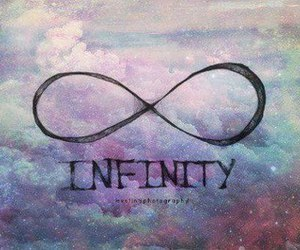 infinity, galaxy, and sky image