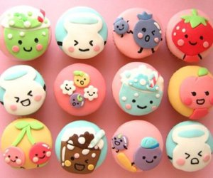 colorful, cupcakes, and cute image