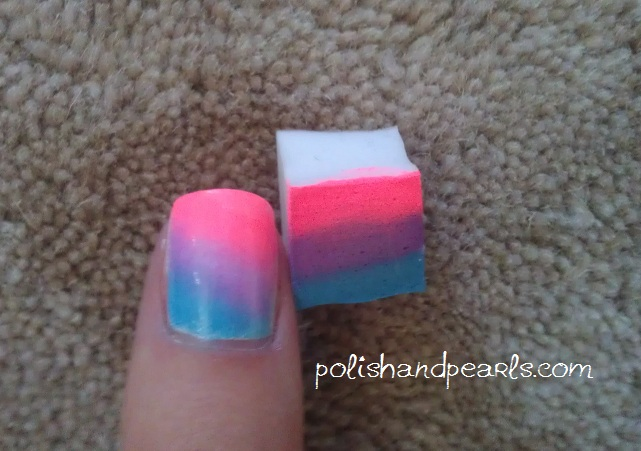 How To Sponge Gradient Nails Polish And Pearlspolish And Pearls