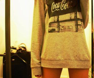 coca cola, girl, and coke image