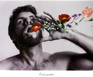 boy, flowers, and men image