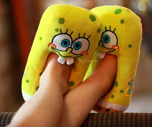 spongebob, slippers, and sponge bob image