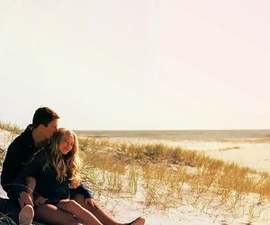 couple, dear john, and beach image