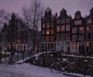 amsterdam, beautiful, and snow image