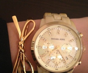 watch, gold, and Michael Kors image