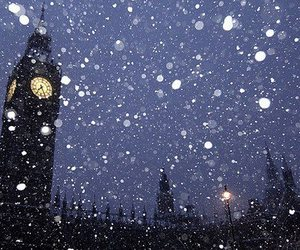 london, snow, and Big Ben image