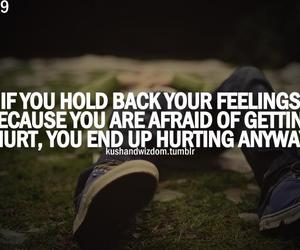afraid, feelings, and quote image