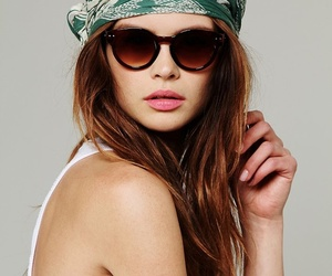 girl, sunglasses, and scarf image