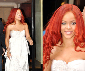 orange hair and rihanna image