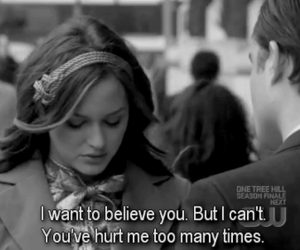 gossip girl, hurt, and quote image